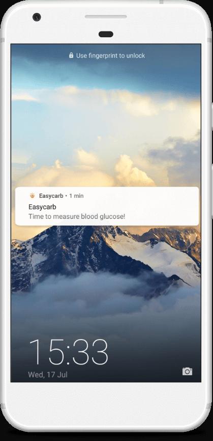 Push notification on Easycarb app